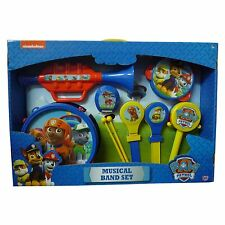 Paw Patrol Toy Musical Band Set Instrument Drum Tamborine Castanet Trumpet NEW