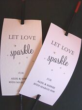12 x Sparkler Covers / Ideal Wedding favours / Personalised inc. diamante