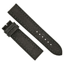 Breitling Black Canvas Strap with Tang Buckle 22-20mm