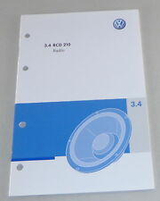 Betriebsanleitung VW Radio RCD 210 verbaut in Polo Golf Passat uvw. von 05/2008