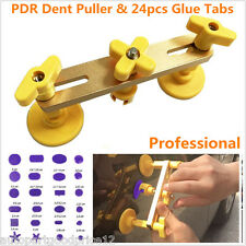 Autos Paintless Tool Kit Bridge Dent Puller Remover PDR Glue Tabs Hand Tool Set