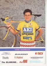 CYCLISME carte cycliste TOMI MAURIZIO équipe AKI GIPIEMME