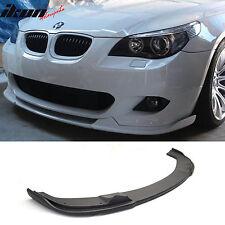 04-10 BMW E60 5 Series M-Tech M Sport Pre LCI H Front Bumper Lip Pre-Primered