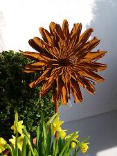 Blume Aster 17 cm Durchmesser Rost Eisen Metall  Gartendeko Deko Stab Edelrost