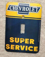 METAL CHEVROLET CHEVY LIGHT SWITCH COVE PLATE MAN CAVE DECOR SIGNS GAS PUMP DAD