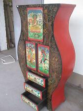 Antiker Chinesisch Tibetischer Schrank China Tibet Asiamöbel Breite96xHöhe161cm