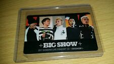 Big bang big show 2011 official photocard Kpop k-pop  shipped in toploader (U.S
