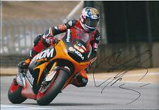 Colin EDWARDS SIGNED Antoniolupi NGM 12x8 Photo Autograph AFTAL COA In Person