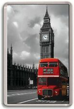 FRIDGE MAGNET - RED BUS ART - Large Jumbo - London UK England