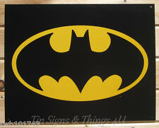 Batman Logo TIN SIGN dc comic superhero movie poster retro metal wall decor 1334