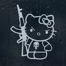 Hello Kitty AK-47 Car Window Windscreen Body Panel Laptop Decal Vinyl Sticker