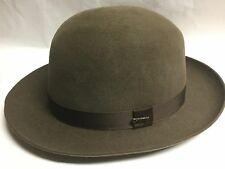 CHRISTYS' LONDON HIGH CROWN FOLDAWAY FUR FELT FEDORA BROWN 7 3/4 XL 62 LONDON UK
