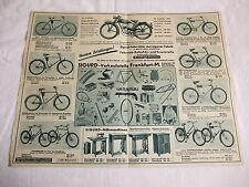 Werbung Reklame Oldtimer Prospekt Katalog Sigurd - Fahrräder Nähmaschinen 30er J