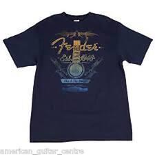 Fender Folk Acoustic Navy T-shirt Medium