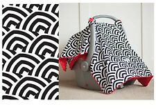 CARSEAT CANOPY ~ SOLOMON Infant Car Seat Cover Cool Cotton + Soft Warm Minky NEW