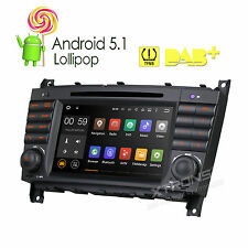 "Android 5.1 7"" Car Standard Radio DVD GPS Navigation for Mercedes Benz W203/W209"