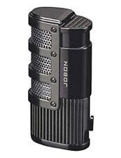 JOBON Premium Triple Jet Flame Refillable Butane Torch Lighter~Gunmetal Color