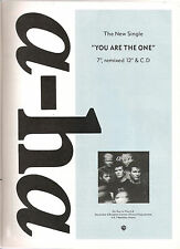 A-HA You Are The One 1988 UK magazine ADVERT / mini Poster 11x8 inches