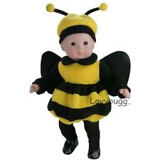 "Bumble Bee Costume Clothes for 15"" Bitty Baby or 18"" American Girl Doll Amazing"