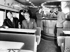 Interior of Electroliner car on the North Shore Line, 1941  8 x 10 Photograph