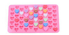 Mini heart DIY Silicone 55pcs Chocolate Pink Ice Mold Suger craft Cake pudding