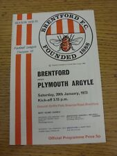 20/01/1973 Brentford v Plymouth Argyle  . Unless stated previously in the descri