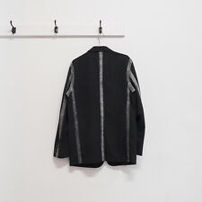 COMME DES GARCONS HOMME 2003 black wool taped seam blazer jacket M S
