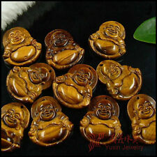 Tibetan jewelry Tiger's eye stone carved buddha bead statue pendat amulet