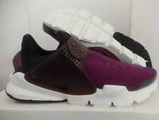 MENS NIKE SOCK DART TECH FLEECE MULBERRY-NIGHT MAROON-BLACK SZ 5 [834669-501]