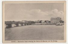 Egypt, Semiramis Hotel , Kasr-el-Nil Barracks & Bridge Postcard, B201