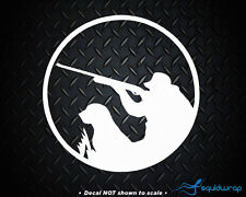 Hunter Dog Retriever Duck Hunting Car Decal / Laptop Sticker - White 5""