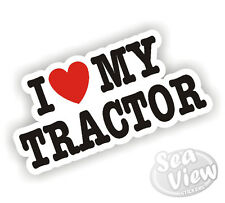 I Heart Love My Tracteur John Deere New Holland Massey JCB Fendt autocollant decal