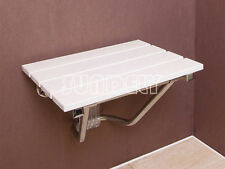 SUNDELY WALL MOUNTED SHOWER SEAT Fold Away Easy Clean - Max 160kg 25 Stone