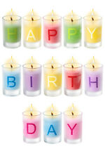 Happy Birthday Candles, Set of 13 Individual Letter Candles
