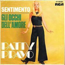"""7"""" Patty Pravo – Gli Occhi Dell 'Amrore / Sentimento // Rare Germany 1969"""