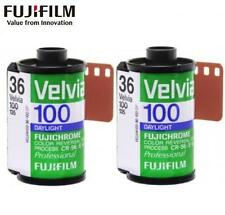 2 Rolls FUJI FUJICHROME Velvia 100 RVP 36exp 135 35mm Color Reversal Slide Film