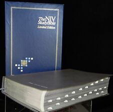 NIV Limited Edition Study Bible Red Letter Edition Genuine Cowhide Gray 1985