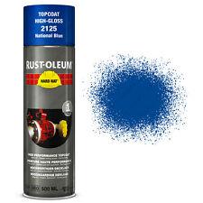 x2 Industriel Rust-Oleum National Bleu Peinture En Aérosol Solide Chapeau 500ml