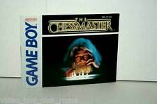 MANUALE THE CHESSMASTER NINTENDO GAMEBOY EDIZIONE AMERICANA GD1 36866