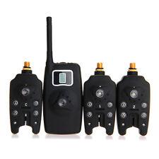 Bissanzeigern Bissmelder LED Beissalarm Elektronisch Set 3X Carp Sound Wireless