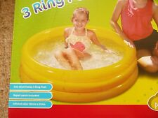 CHAD VALLEY INFLATABLE 3 RING PADDLING SWIMMING POOL BALL POOL GARDEN 40 x 10''