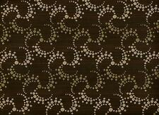 Carnegie OHM Modern Contemporary Geometric Black Mocha Tan Upholstery Fabric