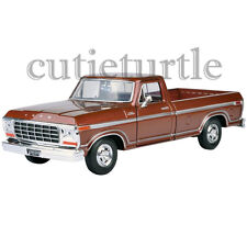 Motormax 1979 Ford F-150 Custom Pickup Truck 1:24 Diecast Model Car 74346 Brown