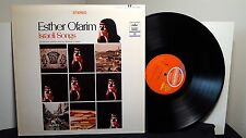 "ESTHER OFARIM ""Israeli Songs"" vinyl LP conducted by Shimon Cohen CAPITOL ST10486"