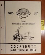Cockshutt 411 Forage Harvester Parts List Catalog Manual C565R-4-55-CHP 4/55