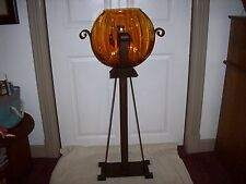BEAUTIFUL LARGE ANTIQUE FISH BOWL & STAND ART DECO, MISSION, ARTS AND CRAFT