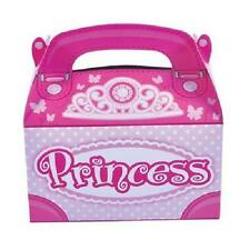 12 PRINCESS TREAT BOXES Birthday Party Loot Goody Bags Pink #BB34 FREE SHIPPING