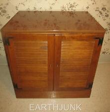 """Ethan Allen 21"""" Extra Deep Base Custom Room Plan Maple Shutter Door Cabinet"""