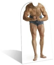 Muscle Man Stand in Cardboard Cutout Fun Figure 180cm Tall - Great for Parties