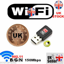 150Mbps WIRELESS 802.11 B G N USB WiFi NETWORK CARD LAN ADAPTER DONGLE WITH CD
